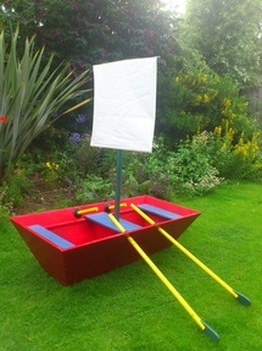 Custom Designed and Built Children's Wooden Play Sailing Boat ©Philip Marr 2012